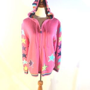 Quacker Factory Multi Color Hooded Sweater